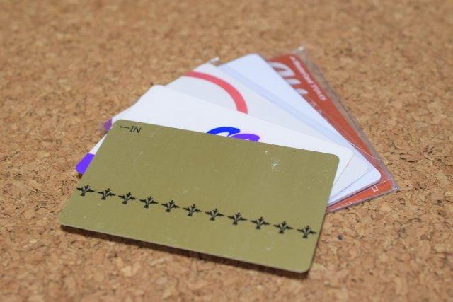 ポイントカードだらけ