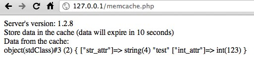memcache test in php