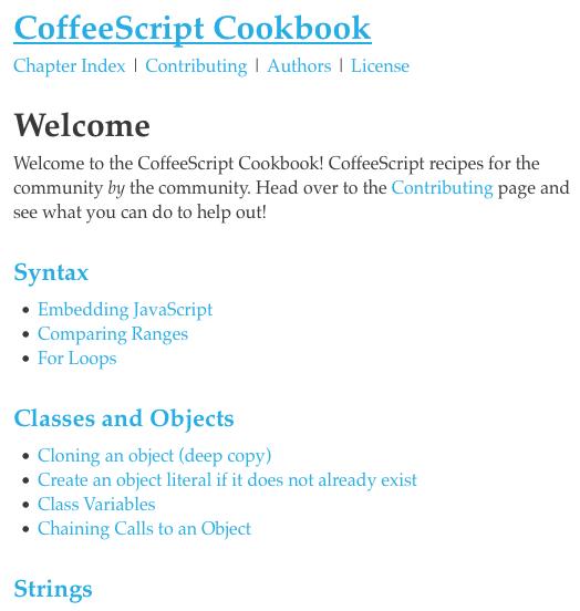 CoffeeScript Cookbook